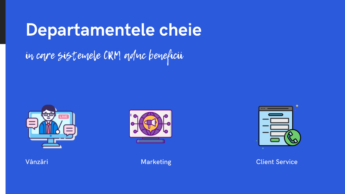Programele CRM - Customer Relationship Management - aduc beneficii in departamentele de Vanzari, Marketing si Client Service