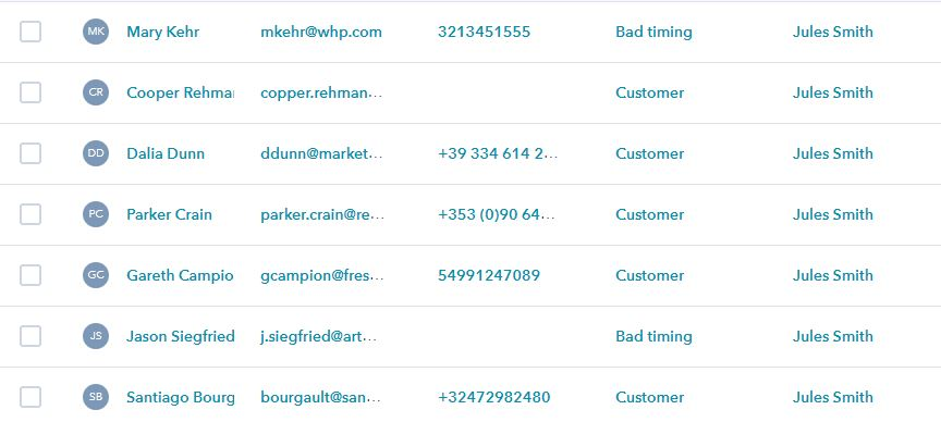 Administrarea listei de contacte in CRM online
